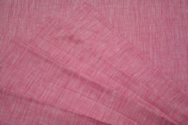 Aurora Pink European Linen Fabric