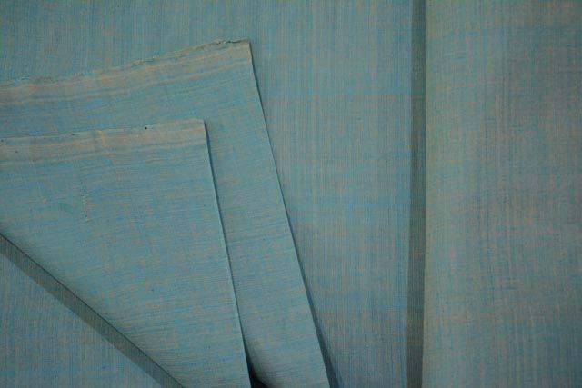 Bluish Mangalgiri Pure Handloom Cotton Fabric