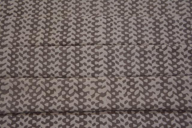 Kashish Grey Designer Block Print Cotton Fabric