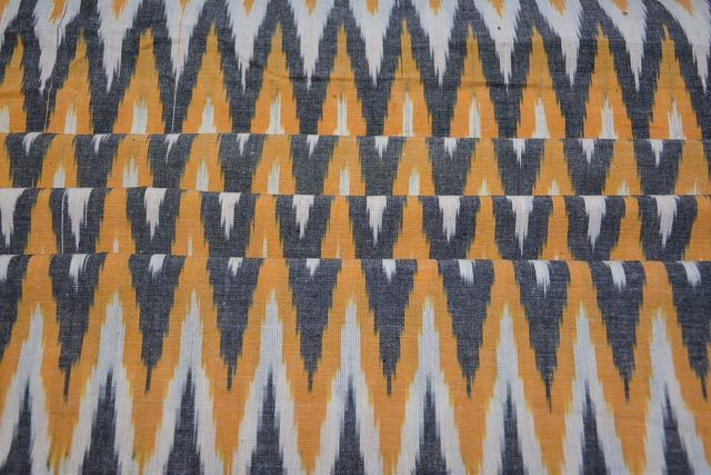 Tricolor Chevron Ikat Fabric By The Yard