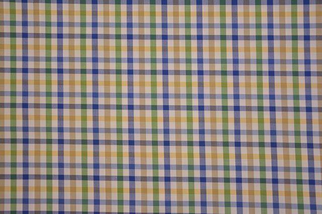 Checks Cotton Shirting Fabric Online