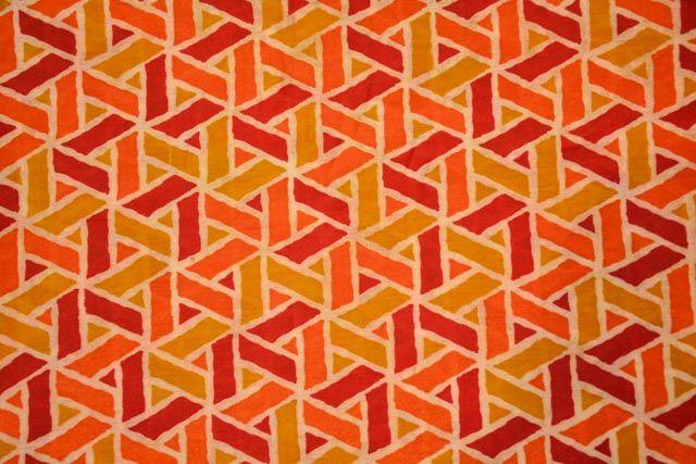 Geometric Printed Chanderi Modal Fabric