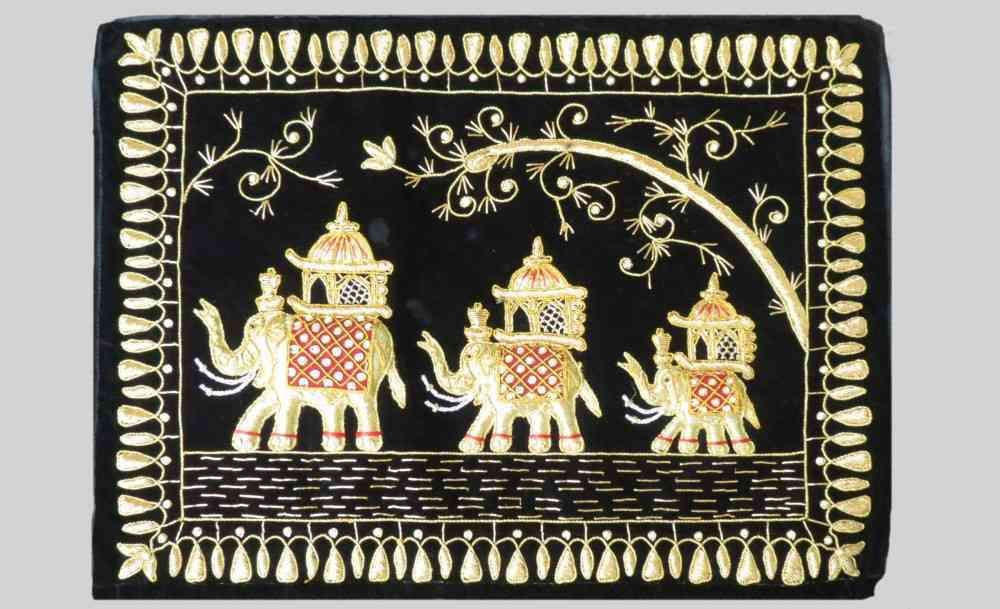 Hand Embroidered Elephant Indian Wall Hangings