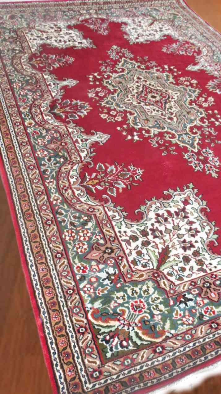 Red Persian Design Handmade Silk Rug