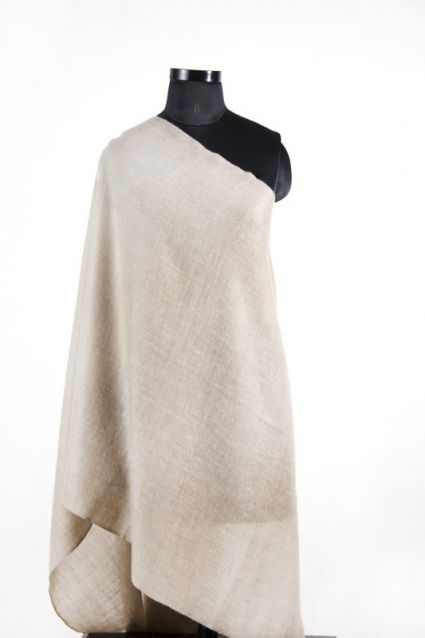 PASTEL TAUPE BROWN CASHMERE SCARF FROM INDIA