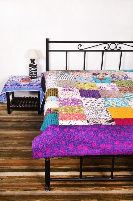 Multicolor Patchwork Indian Cotton Bedspreads