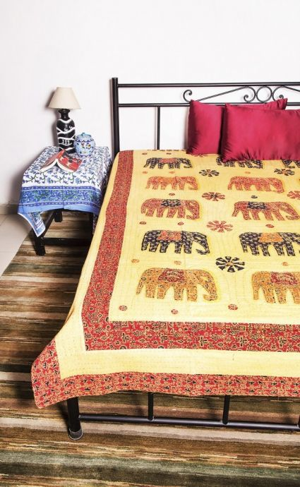 Elephant Patch Work Bedspreads