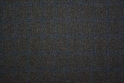 Magnet Grey Checks Herring Bone Tweed Wool Fabric