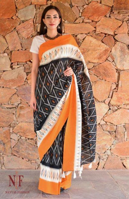 Designer Ikat Sarees Online