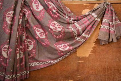 Pink Face Bagru Print Cotton Sarees