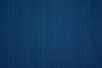 Deep Water Blue Woven Motif Cotton Fabric