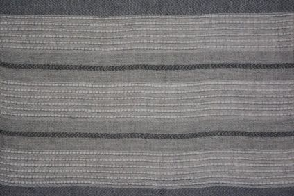 Grey And White Stripes Cashmere Wool Stole
