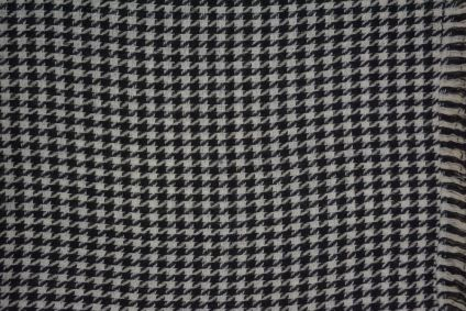 Black And White Checks Cashmere Wool Stole