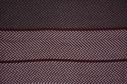Multicolor Chevron Design Cashmere Wool Stole