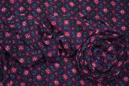 Purple Printed Georgette Fabric Online