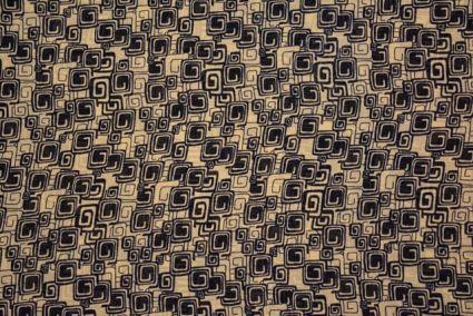 Square Print Georgette Fabric