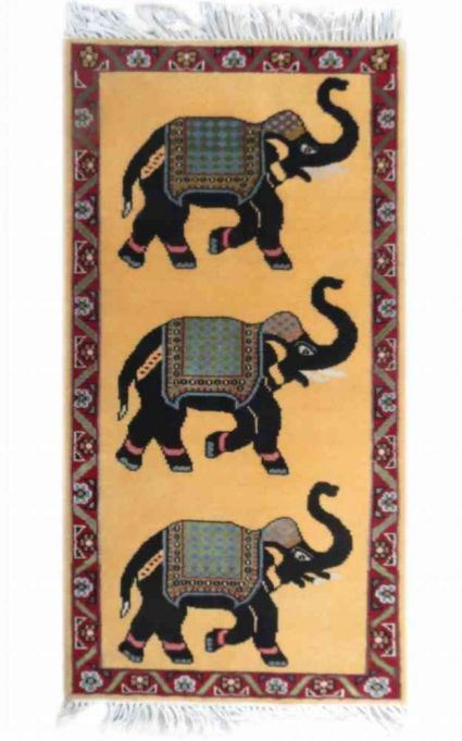 ELEPHANT DESIGN WALL CARPET FROM INDIA SUPPLIER