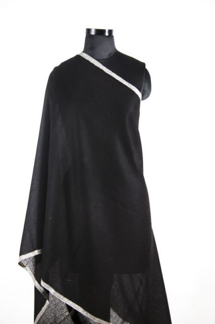 BEAUTY BLACK EMBROIDERED 100 PASHMINA SCARF-HE3