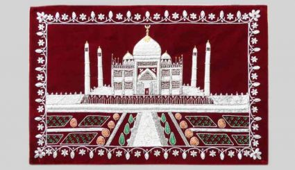 HAND EMBROIDERED TAJMAHAL INDIAN WALL HANGINGS SUPPLIER