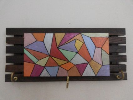 Abstract Geometrical Pattern Key Ring Holder Online