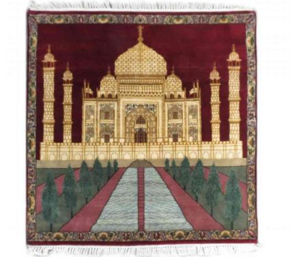 TAJMAHAL DESIGN WALL CARPET FROM INDIA SUPPLIER